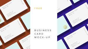 20 free business card psd mockups