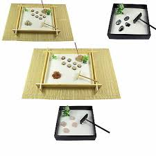 zen garden kit wooden with rake