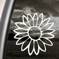 6x6 White Lotus Tropical Flower Car Truck Window Decal Sticker