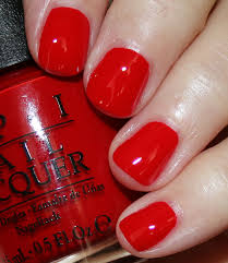 my favorite red opi nail lacquer colors