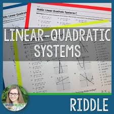 solving linear quadratic systems riddle