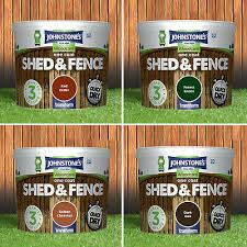 Johnstones Woodcare One Coat Garden Shed And Fence Paint Exterior Quick Dry 5l 11 95 Picclick Uk