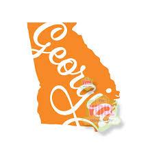 Georgia Decal Georgia State Sticker State Of Georgia Ga Etsy Georgia State Vinyl Decals Monogram Decal