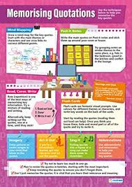memorising quotations english educational wall chart poster in