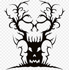 Apple Tree Silhouette Clipart Spooky Halloween Clip Art Png Image With Transparent Background Toppng