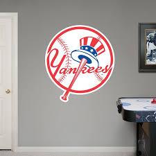 New York Yankees Circle Logo New York Yankees Mlb Sports Wall Decals Wall Graphics Baseball Bedroom