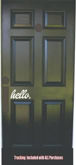 Hello Welcome Door Vinyl Decal Sticker Front Door Decal Decor Welcome Home Art Ebay