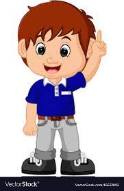 cute boy cartoon royalty free vector