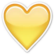 yellow heart emoji transpa png