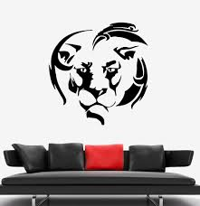 Wall Decal Lion Head King Animal Africa Mane Vinyl Sticker Ed1665 Wallstickers4you