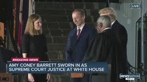 Amy Coney Barrett sworn in as Supreme ...
