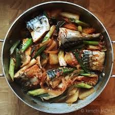 Korean Spicy Braised Mackerel #SundaySupper