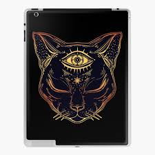 Egyptian Cat With Third Eye Open Ipad Case Skin By Magneticmama Redbubble