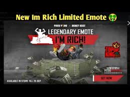 Limited Legendary Im Rich Emote Full Details In Just 2minutes - YouTube