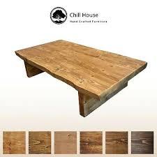 live edge coffee table rustic tudor oak