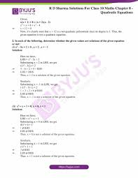 class 10 chapter 8 quadratic equations