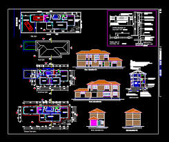 Two Storey House Dwg Block For Autocad Designs Cad