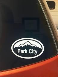 Park City Vinyl Car Window Sticker Utah Decal Etsy
