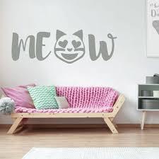 Amazon Com Emoji Wall Decal Meow Cat Vinyl Art Decorations For Teens Or Girl S Bedroom Playroom Or Home Decor Handmade