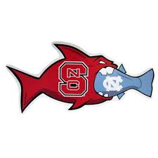 Nc State Wolfpack Unc Rival Fish Vinyl Decal Red And White Shop