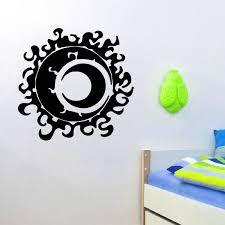 Shop Fiery Sun And The Moon Wall Art Sticker Decal Overstock 11179714