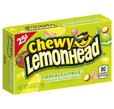 chewy lemonhead fiercely citrus candy