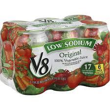low sodium 100 vegetable juice