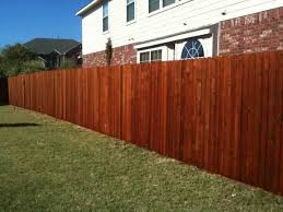 How To Stain A Fence Rustic Fence Fence Company Serving Dallas Fort Worth