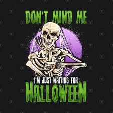 waiting for halloween funny skeleton