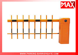 Remote Control Barrier Gate Smart Parking System With Two Fence Arm 1m 4m Length