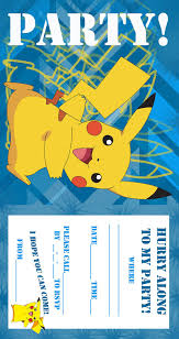 Pokemon Coloring Pages Birthday Party Invitation Free And