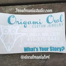 Business Car Decal Oragami Owl