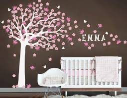 Personalized Wall Decals Cherry Blossom Large Tree Sticker Custom Name Decor Emma Quote Nursery Kids Murals Baby Crib Bedroom Floral H656 Thefuns On Artfire