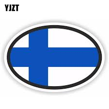 Yjzt 12 2cm 8 2cm Car Accessories Finland Flag Oval Motorcycle Helmet Car Sticker 6 1830 Car Stickers Aliexpress