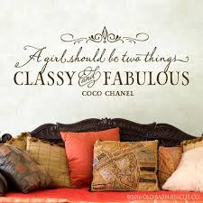 A Girl Should Be Two Things Classy And Fabulous Wall Decals Etsy