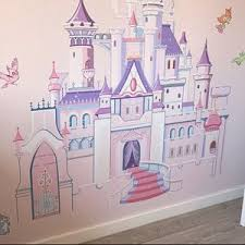 Disney Princess Castle With Colorful Birds And Squirrel Large Wall Sticker Kids Room Bedroom Playroom Wall Decal Nursery Wall Decal Mt014 Disney Princess Castle Disney Princess Room Kids Room Wall Stickers