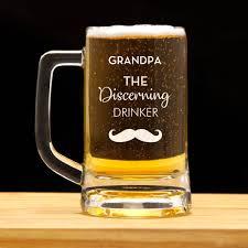 personalized beer mug for grandpa gift