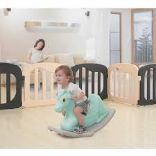 Environmental Baby Kids Fence Indoor Playgrounds Baby Playpen With Security Gate For Children Natural Child Safety Fence Plastic Baby Playpens Aliexpress