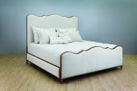 Wesley Allen Evans Upholstered & Iron Bed with Fabric Sides ...