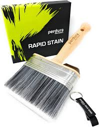 Deck Stain Brush Applicator Rapid Stain By Perdura Fence Floor Tool 5 Inch Paint Brush Stain Seal And Paint Fast Water And Oil Based Coatings For Wood
