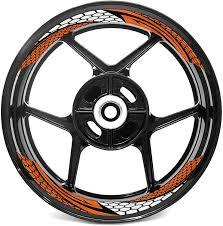 Amazon Com Mc Motoparts 17 Inch Wheel Rim Wall Stickers Decal Tape For Ktm 1290 Super Duke R 890 790 125 390 Duke 690 Smc Orange Automotive