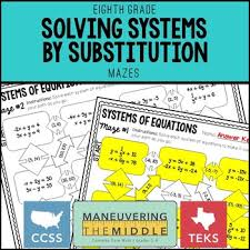 solving systems by substitution by