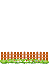 Picket Fence Border Clip Art Page Border And Vector Graphics Page Borders Borders For Paper Flower Fence