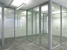 aluminum frame wall glass partition