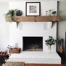 diy white brick fireplace