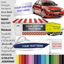 Amazon Com Design Your Own 13 Sizes 18 Fonts 24 Colors Custom Vinyl Sticker Car Window Boat Yeti Lettering Jdm Automotive Windshield Graphic Name Letter Auto Vehicle Door Banner Sign