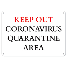 Vision Graphic Public Safety Sign Keep Out Quarantine Vinyl Decal Protect Your Business Municipality Home Colleagues Made In The Usa Rakuten Com