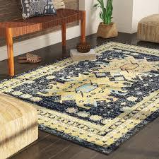 mattea southwestern navy blue area rug