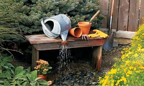 build an outdoor water feature my