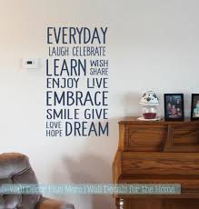 Wall Decals Everyday Words Subway Art Kids Room Stickers For Wall Decor